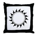 Sunny Flames Throw Pillow