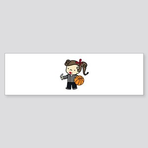 Girl Referee Bumper Sticker