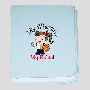 My Rules baby blanket