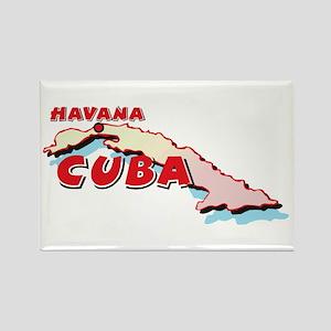 Cuba Map Rectangle Magnet
