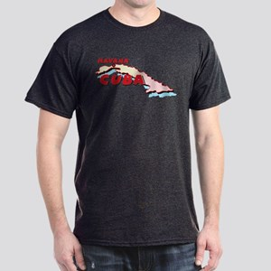 Cuba Map Dark T-Shirt