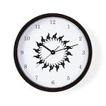 Sunny Flames Wall Clock