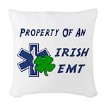 Property Of Irish EMT Woven Throw Pillow