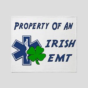 Property Of Irish EMT Throw Blanket