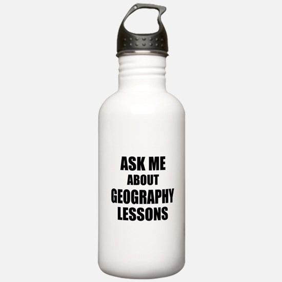 Ask me about Geography lessons Sports Water Bottle
