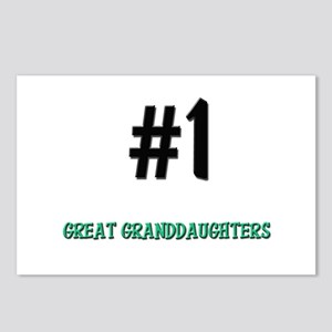 Number 1 GREAT GRANDDAUGHTERS Postcards (Package o