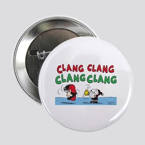 "Snoopy and Lucy Christmas 2.25"" Button"