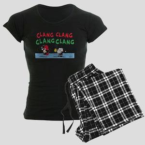 Snoopy and Lucy Christmas Women's Dark Pajamas