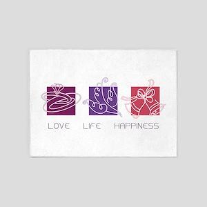 Love Life happiness 5'x7'Area Rug