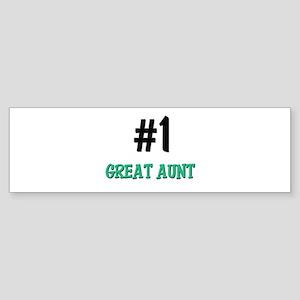 Number 1 GREAT AUNT Bumper Sticker