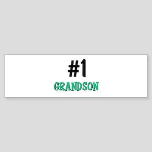 Number 1 GRANDSON Bumper Sticker