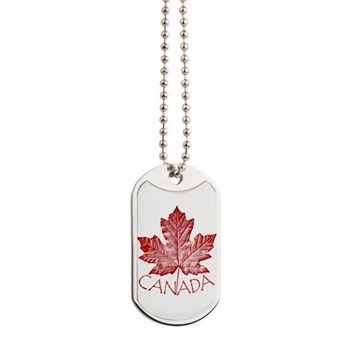 Canada Souvenirs Vintage Canadian Maple Dog Tags