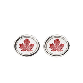 Canada Souvenirs Vintage Canadian Oval Cufflinks