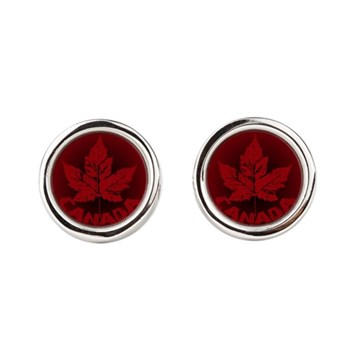 Canada Souvenirs Vintage Canadian Round Cufflinks