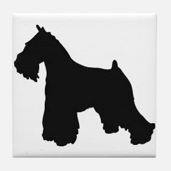 schnauzer black 1C Tile Coaster