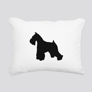 schnauzer black 1C Rectangular Canvas Pillow