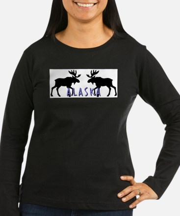 moose silhouette6 Long Sleeve T-Shirt