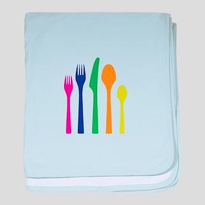 Plastic Silverware baby blanket
