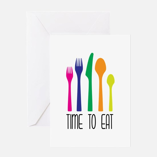 Time To Eat Greeting Cards
