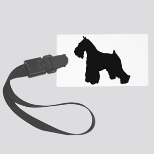 schnauzer black 2 Luggage Tag