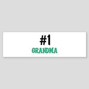 Number 1 GRANDMA Bumper Sticker
