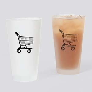 Shopping Cart Drinking Glass