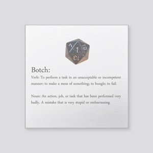D20 Botch Sticker