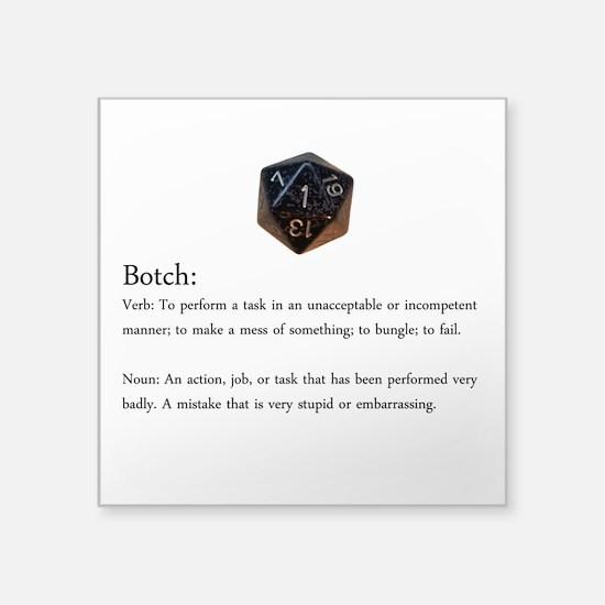D20 Botch Sticker