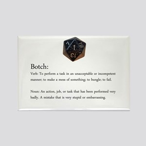 D20 Botch Magnet Magnets