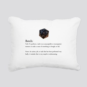 D20 Botch Rectangular Canvas Pillow