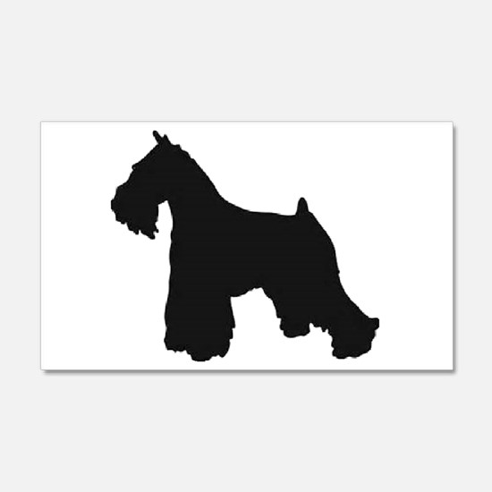 schnauzer black 2 Wall Decal