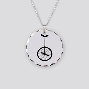 Black Unicycle Necklace
