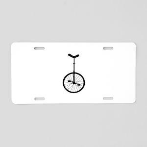 Black Unicycle Aluminum License Plate