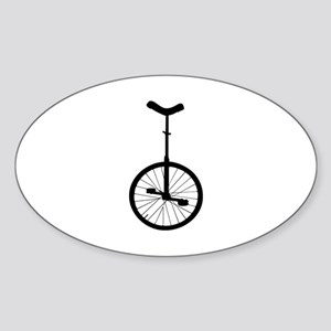 Black Unicycle Sticker
