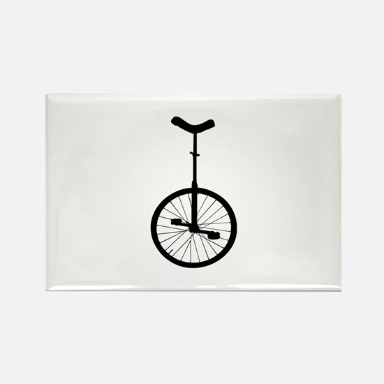 Black Unicycle Magnets