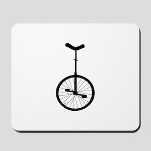 Black Unicycle Mousepad