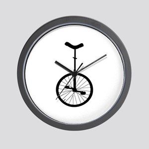 Black Unicycle Wall Clock