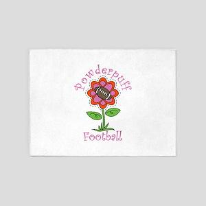 Powderpuff Football 5'x7'Area Rug