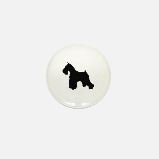 Cute Schnauzer silhouette Mini Button