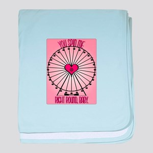 Spin Me Right Round baby blanket