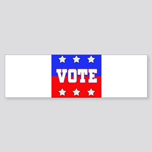 Red and Blue with White Stars and White VOTE Bumpe