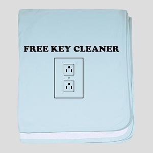 Free Key Cleaner baby blanket