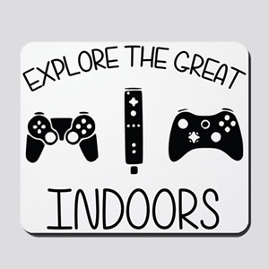 Explore The Great Indoors Video Games Mousepad
