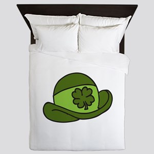 Lucky Shamrock Hat Queen Duvet
