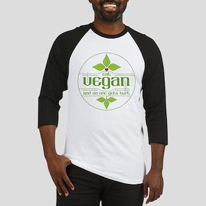 Eat Vegan and No One Gets Hurt Baseball Jersey