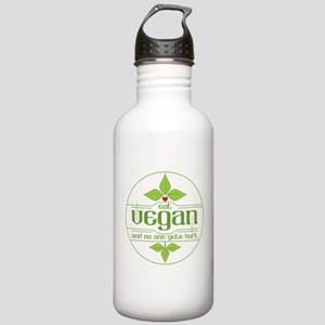 Eat Vegan and No One G Stainless Water Bottle 1.0L