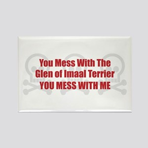 Mess With Glen Rectangle Magnet