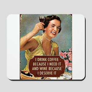 Drink Wine Mousepad