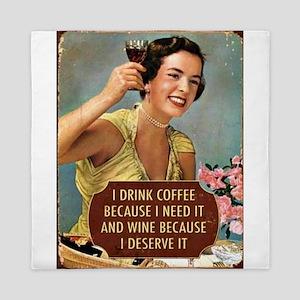 Drink Wine Queen Duvet
