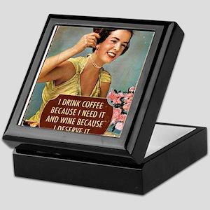 Drink Wine Keepsake Box